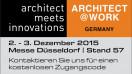 Einladung zu ARCHITECT@WORK in Düsseldorf