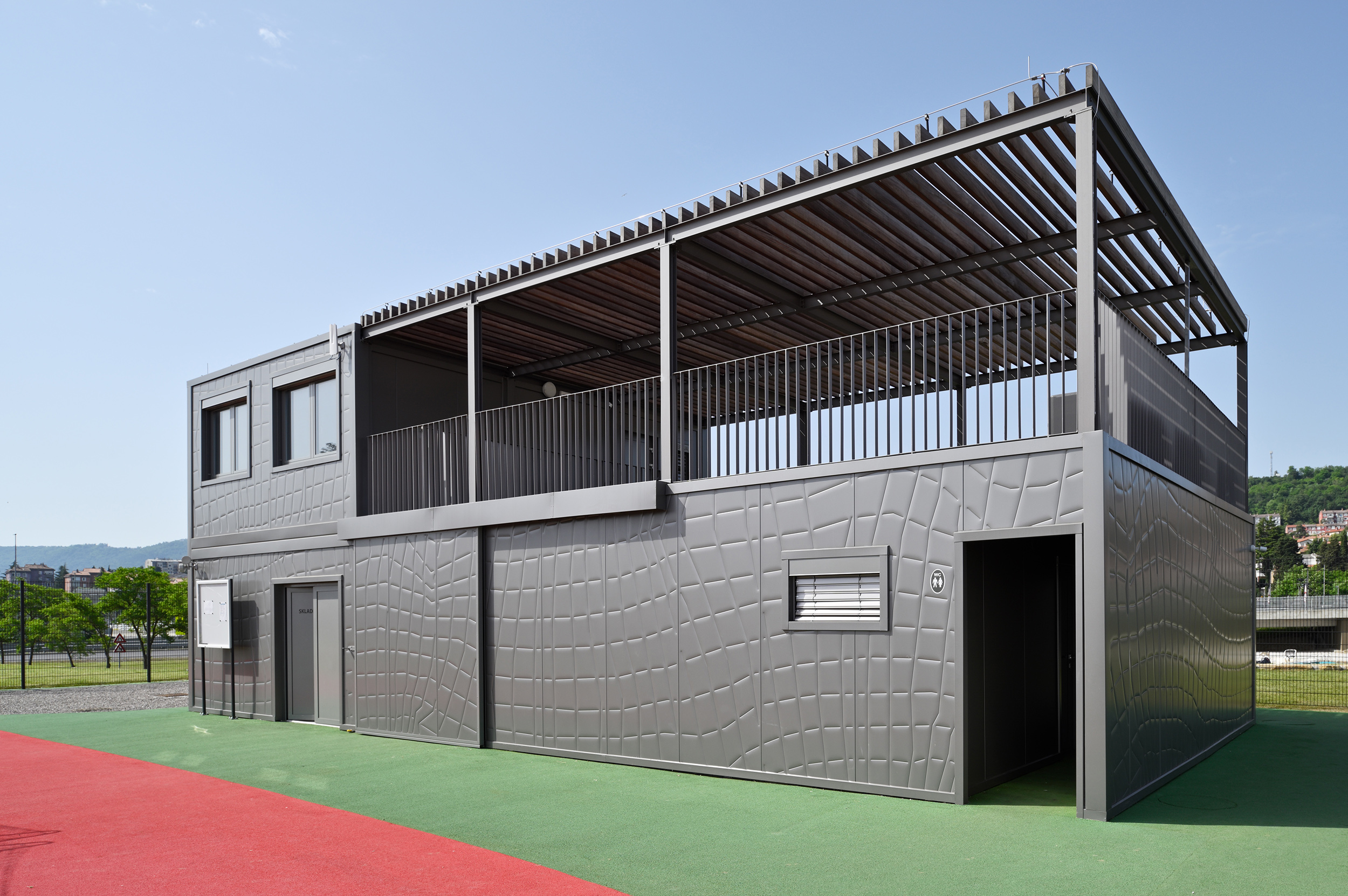 Volleyball court modular facilities
